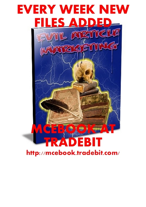 Product picture Evil Article Marketing - a bit on the dark side