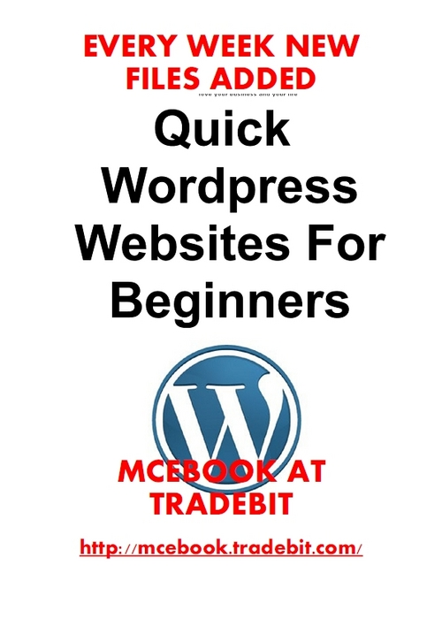Product picture Quick Word Press Websites For Beginners - Short and helpful