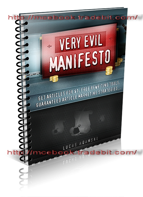 Product picture VERY EVIL MANIFESTO  Deadly Secrets No One Wants You to know