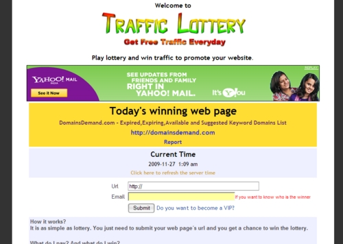 Product picture Traffic Lottery Script  WIN traffic to promote your website